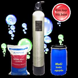 Cột lọc nước khử cứng 600 lít/giờ – van tay