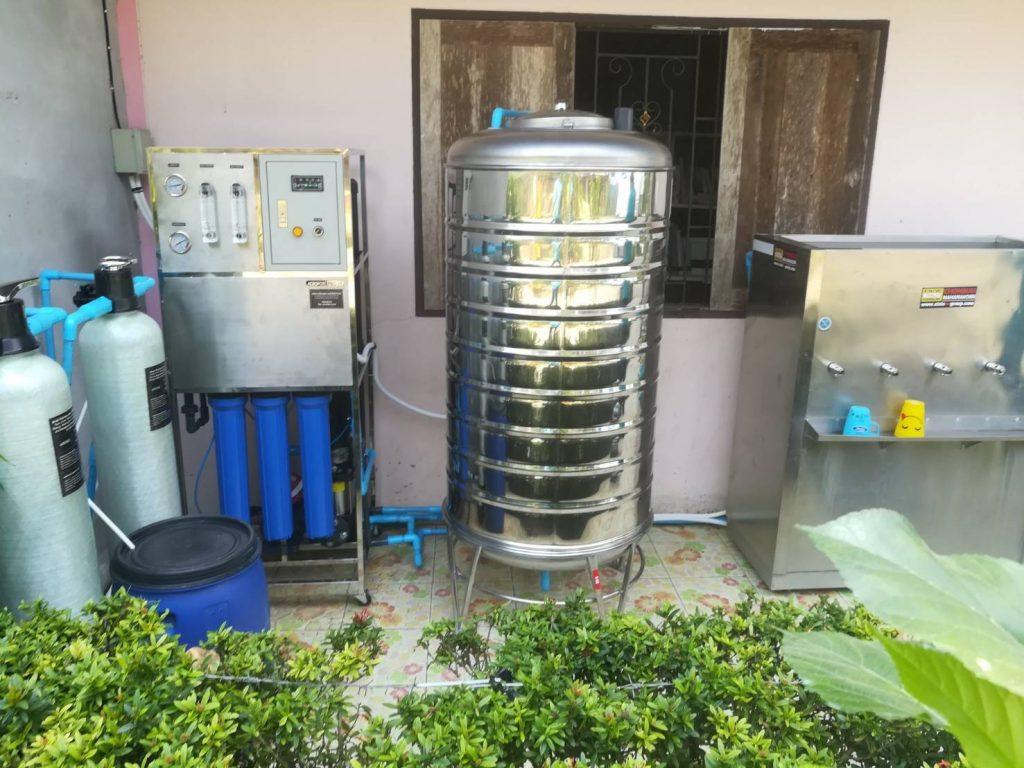 Ảnh Thực tế lắp đặt Hệ thống lọc nước RO cho canteen cho Trường học