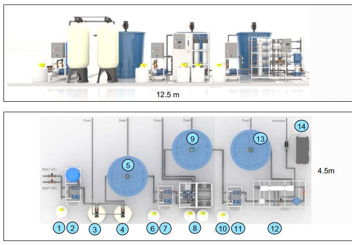 Bảng vẽ hệ thống lọc tái sử dụng nước thải - Vinafood - Cà Mau
